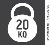 kettlebell glyph icon  fitness... | Shutterstock .eps vector #775020703