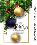 holidays greeting card for... | Shutterstock .eps vector #775023523