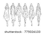 stylized  sketched fashion... | Shutterstock .eps vector #775026133
