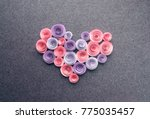 handmade paper flowers heart on ...   Shutterstock . vector #775035457