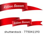 ribbon set  banner collection.... | Shutterstock .eps vector #775041193