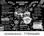 restaurant cafe menu  template... | Shutterstock .eps vector #775046683