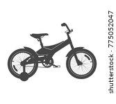 kid's bike for boys. side view. ... | Shutterstock . vector #775052047