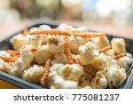 insect food   closeup  popcorn...   Shutterstock . vector #775081237
