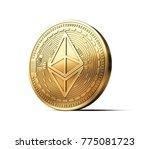 golden ethereum eth... | Shutterstock . vector #775081723
