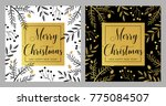 merry christmas and happy new... | Shutterstock .eps vector #775084507