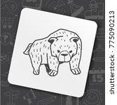 art icon link drawn doodle idea ... | Shutterstock .eps vector #775090213