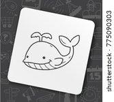 art icon link drawn doodle idea ... | Shutterstock .eps vector #775090303
