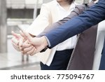business people team show thump ... | Shutterstock . vector #775094767