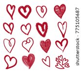 hand drawn hearts. design... | Shutterstock .eps vector #775105687