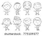 vector illustration of happy... | Shutterstock .eps vector #775109377