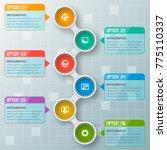 vector abstract 3d paper... | Shutterstock .eps vector #775110337