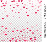 hearts confetti random falling... | Shutterstock .eps vector #775112287