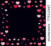 hearts confetti on black... | Shutterstock .eps vector #775112467