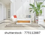 white concept living room... | Shutterstock . vector #775112887