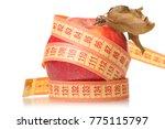 apple centimeter health losing... | Shutterstock . vector #775115797