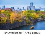 osaka city skyline during... | Shutterstock . vector #775115833