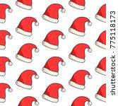 christmas seamless pattern | Shutterstock .eps vector #775118173