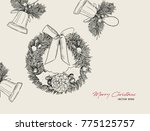 christmas icons hand drawn... | Shutterstock .eps vector #775125757