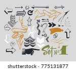 set of various typographic... | Shutterstock .eps vector #775131877