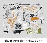 set of various typographic... | Shutterstock .eps vector #775131877