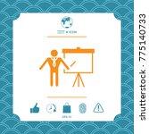 presentation sign icon. man... | Shutterstock .eps vector #775140733