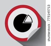 pie chart icon. . vector...