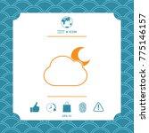 cloud moon symbol    icon | Shutterstock .eps vector #775146157
