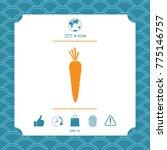 carrot symbol icon | Shutterstock .eps vector #775146757