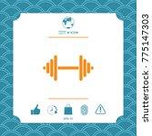 barbell symbol icon | Shutterstock .eps vector #775147303