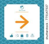arrow next icon | Shutterstock .eps vector #775147537
