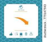 arrow down icon | Shutterstock .eps vector #775147543