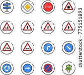 line vector icon set   road... | Shutterstock .eps vector #775151893