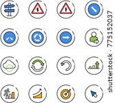 line vector icon set   road... | Shutterstock .eps vector #775152037