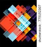 color arrows on black... | Shutterstock .eps vector #775152307