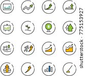 line vector icon set  ... | Shutterstock .eps vector #775153927