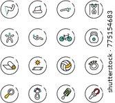 line vector icon set   power... | Shutterstock .eps vector #775154683