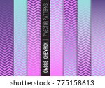holographic ombre chevron... | Shutterstock .eps vector #775158613