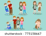 cartoon people with bullying... | Shutterstock . vector #775158667