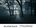 silhouetted black figure... | Shutterstock . vector #775159543