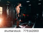 muscular athletic bodybuilder... | Shutterstock . vector #775162003