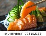 sashimi  salmon  japanese food... | Shutterstock . vector #775162183