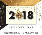 2018 happy new year vector... | Shutterstock .eps vector #775169443