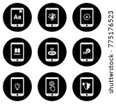 set of simple icons on a theme... | Shutterstock .eps vector #775176523