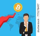 bitcoin business.businessman ... | Shutterstock .eps vector #775178497