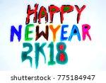 happy new year logo  | Shutterstock . vector #775184947