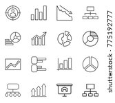 thin line icon set   target... | Shutterstock .eps vector #775192777
