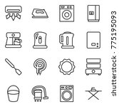 thin line icon set   air... | Shutterstock .eps vector #775195093