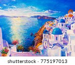 original oil painting on canvas....   Shutterstock . vector #775197013
