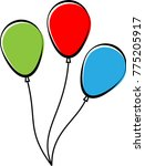 balloon  helium filled balloon... | Shutterstock .eps vector #775205917